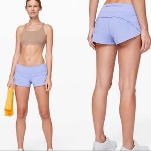"NEW Lululemon speed up shorts high rise HR 2.5"""